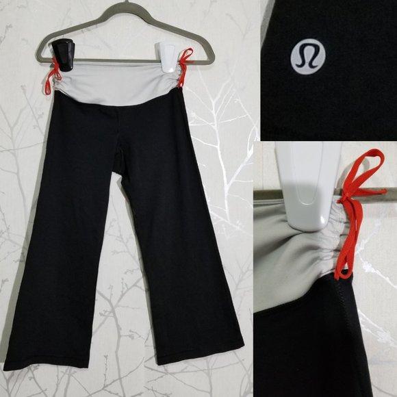 Lululemon Ruched Waistband Cropped Yoga Pants